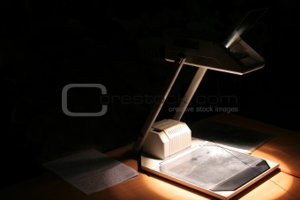 Business presentation using Overhead Projector
