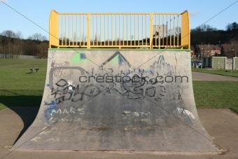 skateboarding ramp
