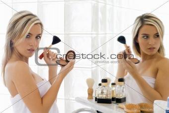 blond in mirror