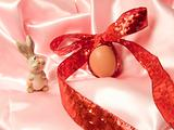 Egg with ribbon