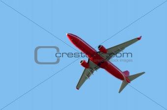 airliner in sky