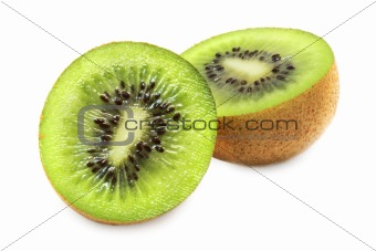 Slit Kiwi (isolated on white)