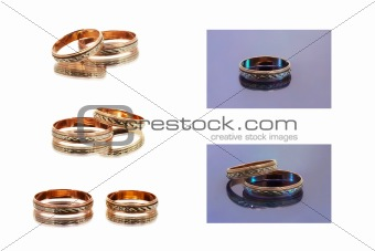 Wedding Rings (isolated on white)