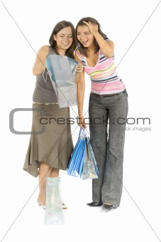 two shopping women