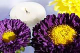 Flowers and aromatic candles