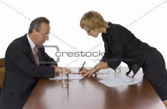 business meeting - sign