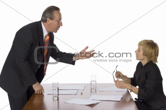 business meeting - man arguing