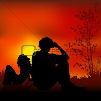 Amorous Man and Girl