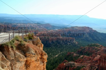 Tourist Overlook View of Bryce Canyon