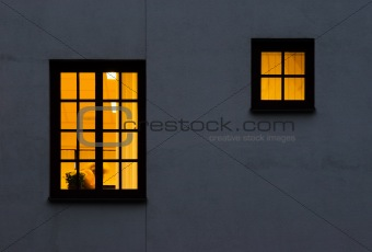 One and half yellow windows