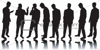 Business men silhouettes