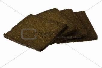 slices of pumpernickel bread