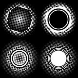 Halftone circle patterns
