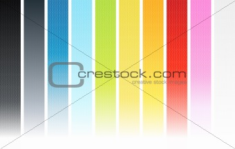Vertical seamless fading hexagonal background elements