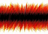 Red distorted oscilloscope abstract