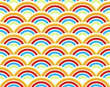 Rainbows seamless pattern