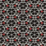 glossy flower pattern