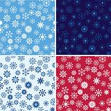 Snow Seamless Vector Background Set
