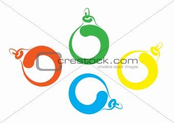 Free hand sketch of Christmas balls
