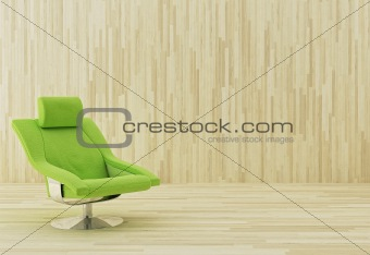 Green armchair