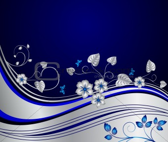 Abstract floral vector background