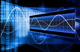 Blue Web Internet Online Growth