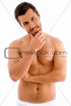 standing muscular man