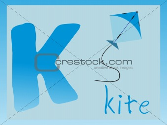 abstract alphabet series k, vector illustration