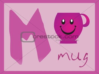 abstract alphabet series m, vector illustration