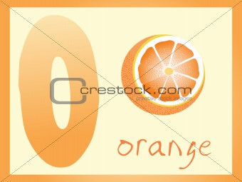 abstract alphabet series o, vector illustration