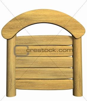 3d wooden signboard