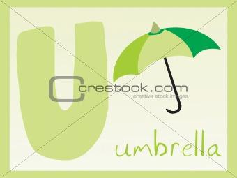 abstract alphabet series u, vector illustration