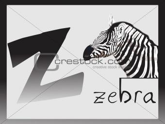 abstract alphabet series z, vector illustration