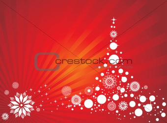 abstract background of christmas ornamented, design3