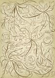 old floral background
