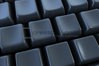 black keyboard without letters