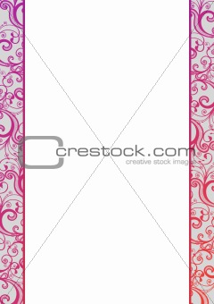 Vector blank with pink florals