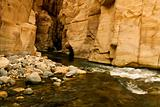 the mujib canyon in jordan