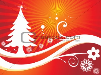 abstract background of christmas ornamented, design37