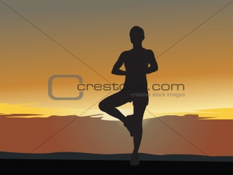 abstract background of yoga concept