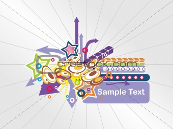 abstract background with place for text, design24