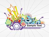 abstract background with place for text, design25