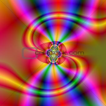 Abstract fractal S shape