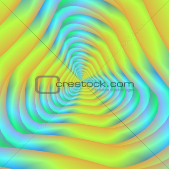 Blue And Yellow Spiral