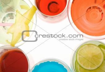 Frame of cocktails