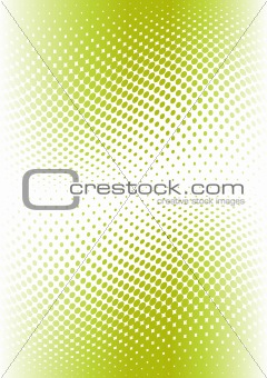 Green color halftone. Vector