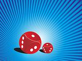 abstract background with vector dice, illustration