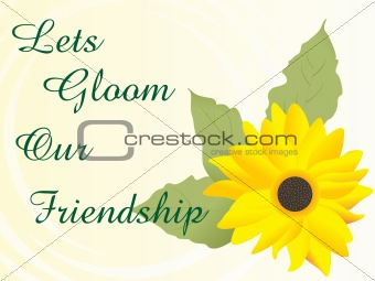 abstract background with vector flower and nice slogan