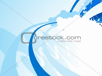 abstract background with wave and cloud
