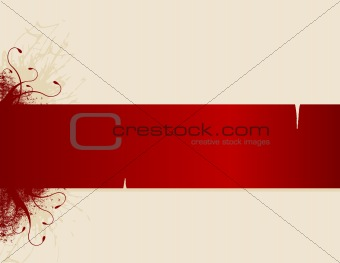 Abstract stripe for text. Vector